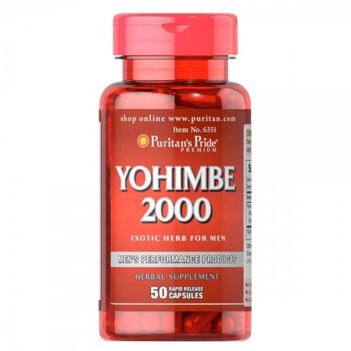 Puritan's Pride - Yohimbe / 2000 мг - 50 капсули