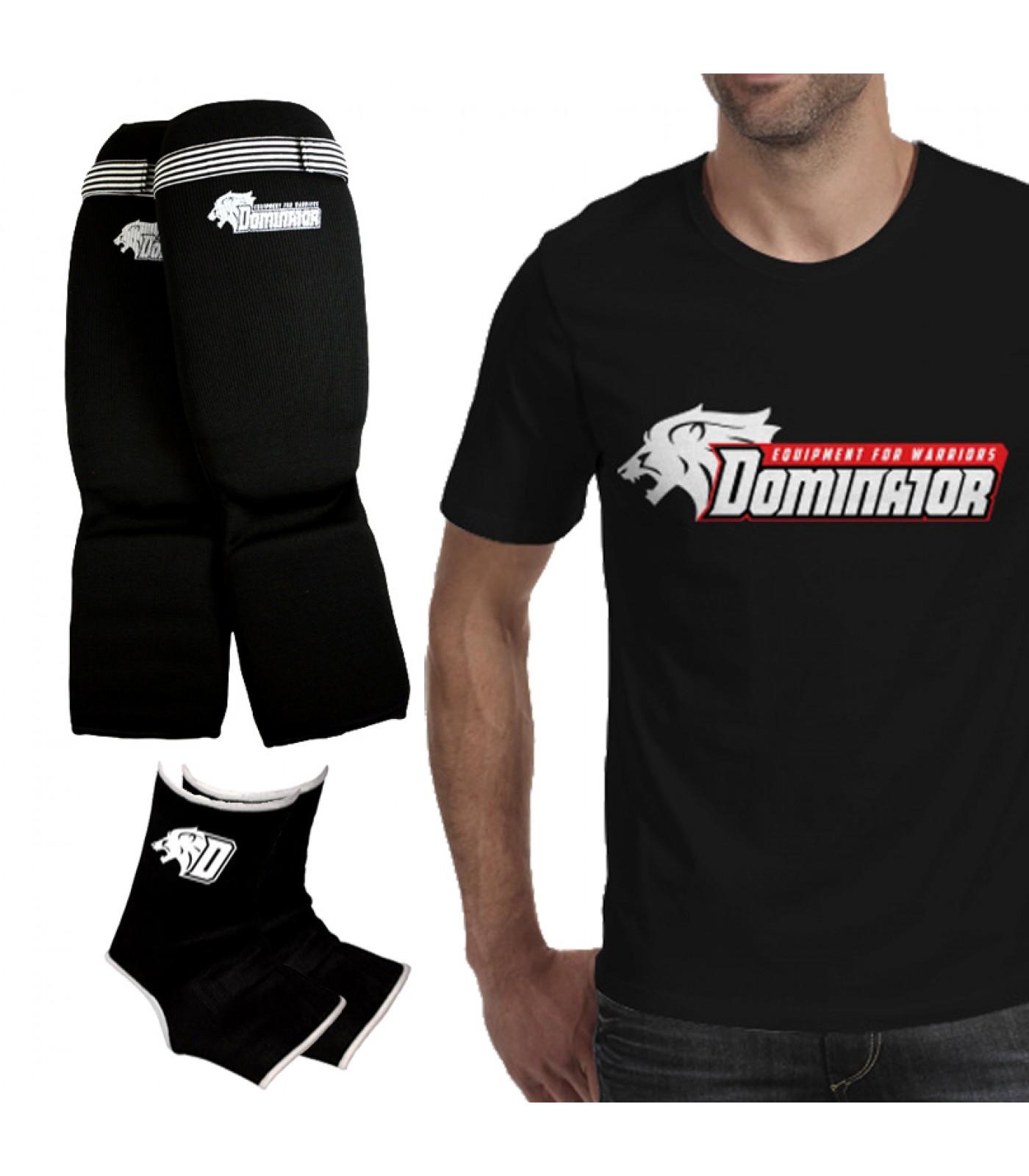 Стак 11 - Тениска + протектори за крака + наглезенки