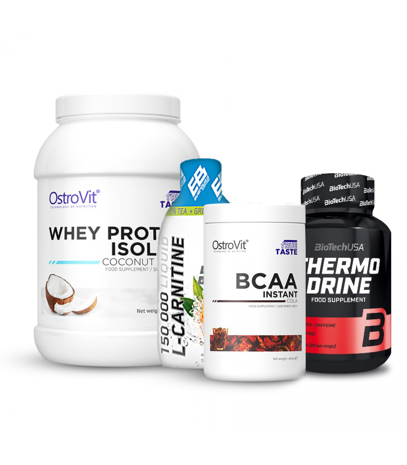 Стак All in one - Фет бърнър + Карнитин + БЦАА + протеин изолат