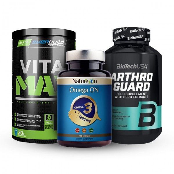 Стак Железен - Витамини + Ставен продукт + Омега 3