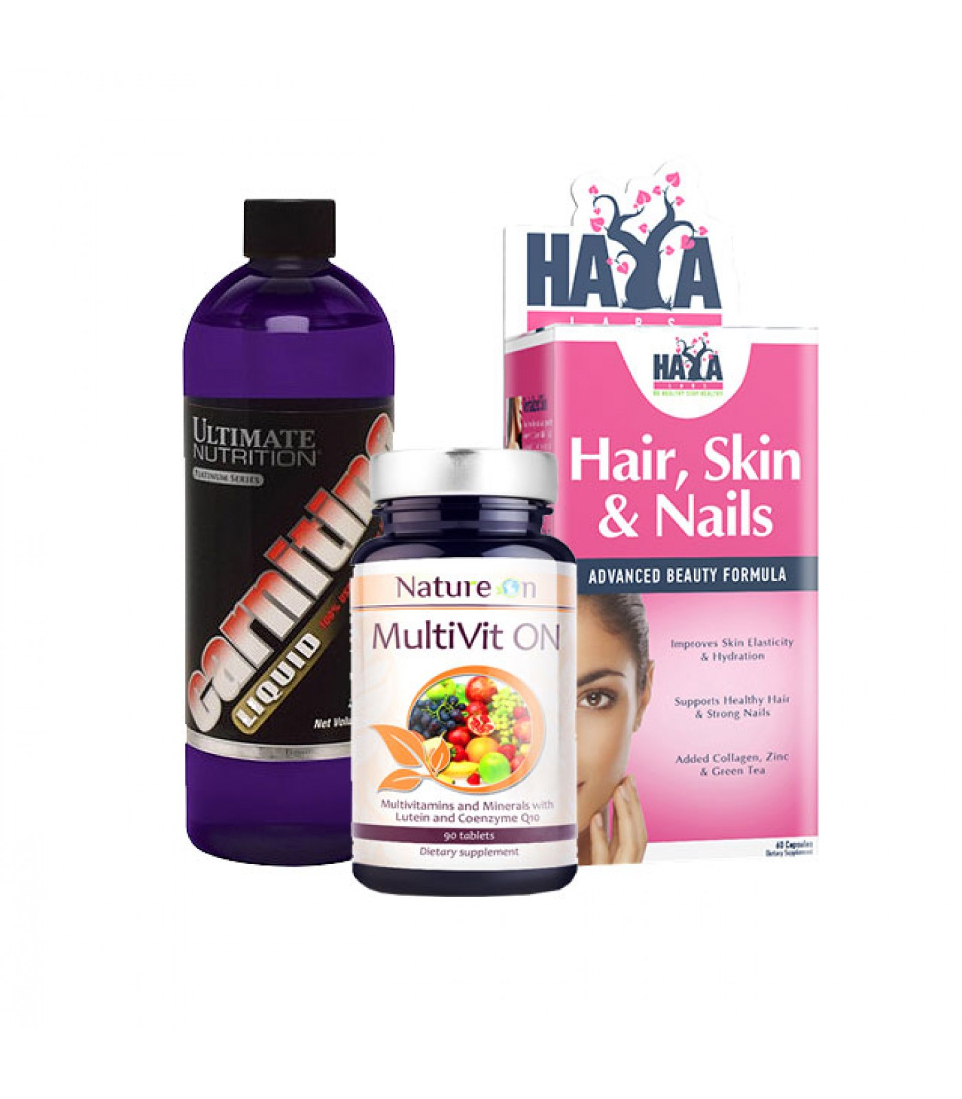 Стак Жената Котка - Витамини + Карнитин + Комплекс за коса, кожа, нокти