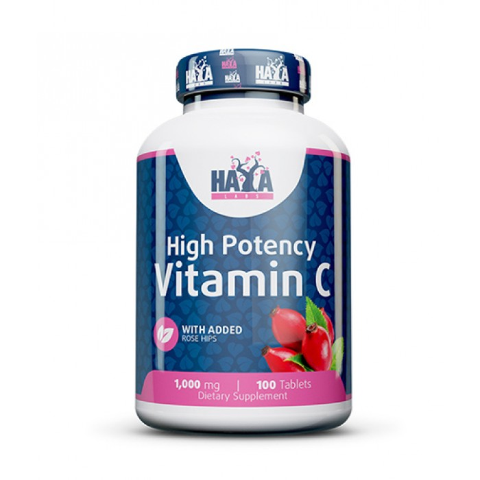 Haya Labs - High Potency Vitamin C with Rose Hips 1000mg / 100 tab