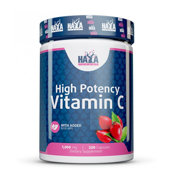 Haya Labs - High Potency Vitamin C with Rose Hips 1000mg / 250 tab