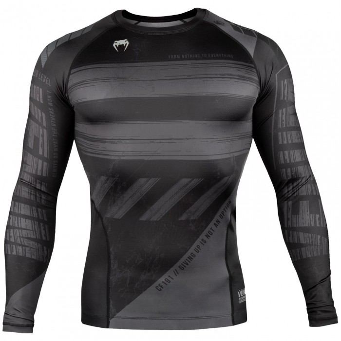 Рашгард - Venum AMRAP Compression T-shirt - Long Sleeves - Black/Grey​