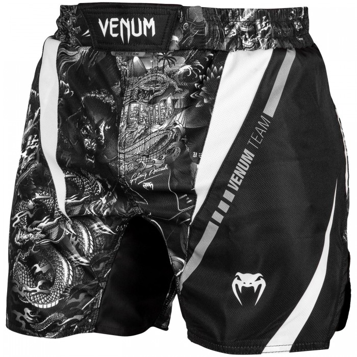 Шорти - Venum Art Fightshorts - Black/White​