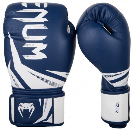 Боксови ръкавици - Venum Challenger 3.0 Boxing Gloves - Navy Blue/White