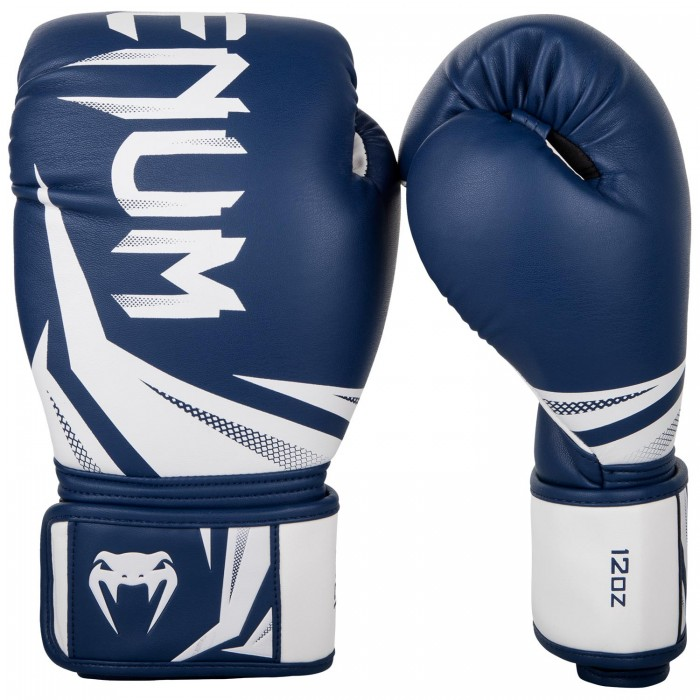 Боксови ръкавици - Venum Challenger 3.0 Boxing Gloves - Navy Blue/White​