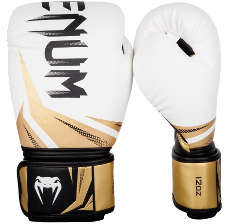 Боксови ръкавици - Venum Challenger 3.0 Boxing Gloves - White/Black-Gold
