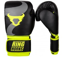 Боксови Ръкавици - Ringhorns Charger Boxing Gloves - Black/Neo Yellow​ Боксови ръкавици