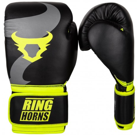 Боксови Ръкавици - Ringhorns Charger Boxing Gloves - Black/Neo Yellow