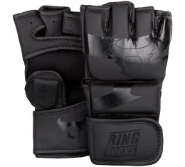 ММА Ръкавици - Ringhorns Charger MMA Gloves - Black/Black​