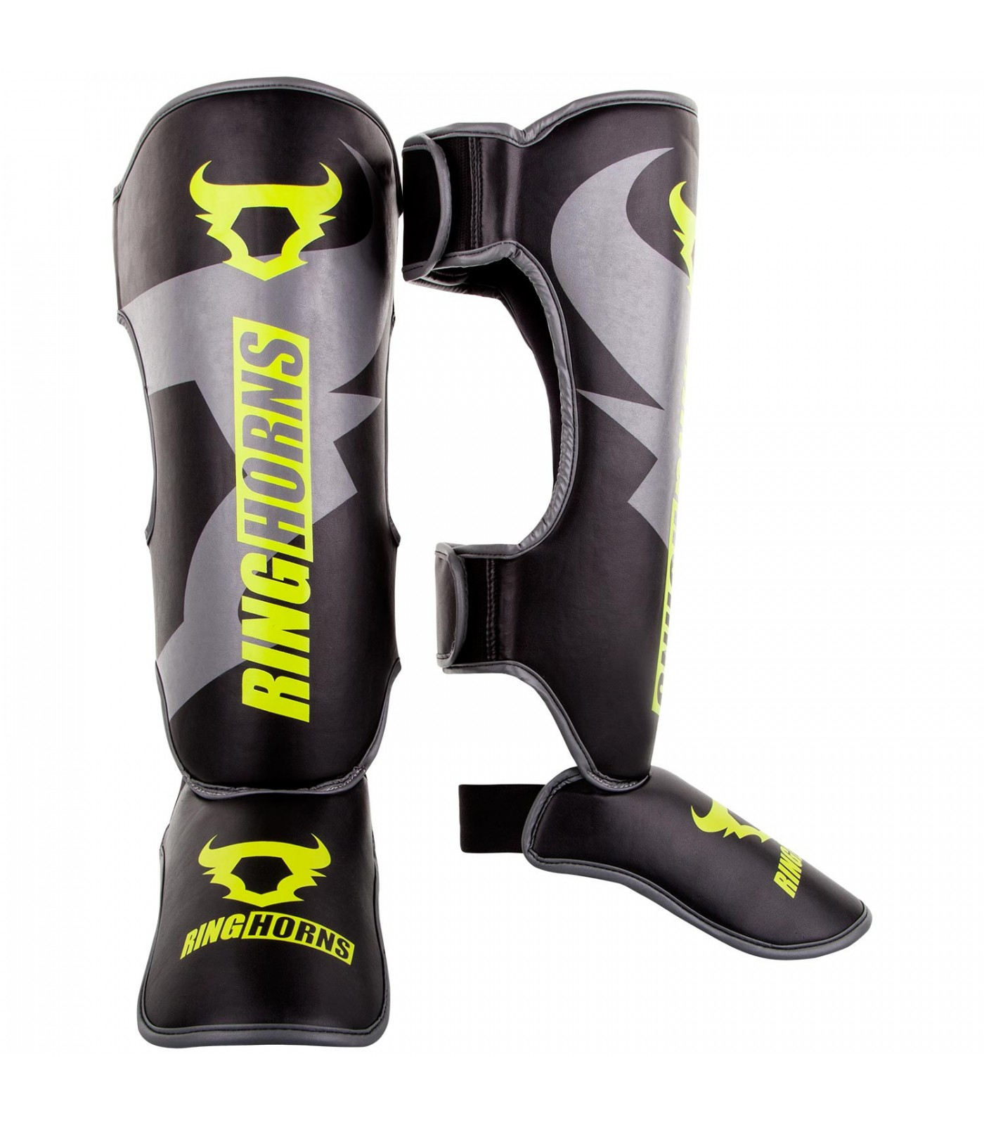 Протектори за крака - Ringhorns Charger Shinguards Insteps - Black/Neo Yellow​