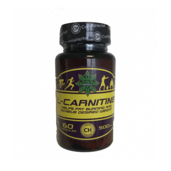 CVETITA HERBAL L-Carnitine 500mg / 60 Caps.