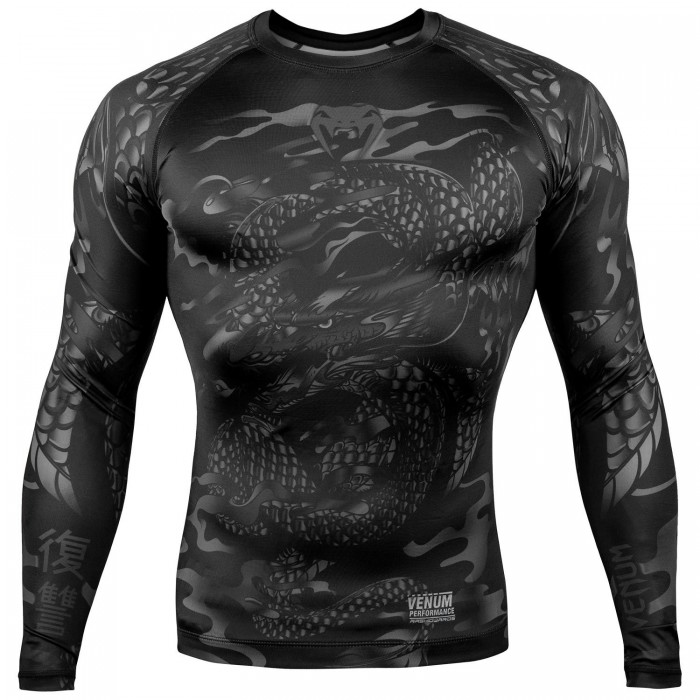 Рашгард - Venum Dragon's Flight Rashguard - Long Sleeves - Black/Black​