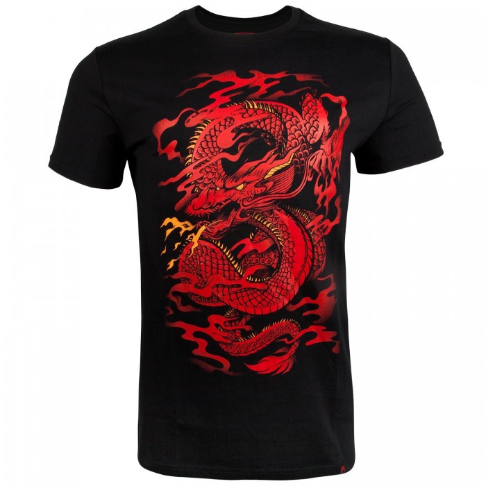 Тениска - Venum Dragon's Flight T-shirt - Black/Red​