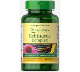 Puritan's Pride - Echinacea Complex 450mg / 100caps. Хранителни добавки, Здраве и тонус, Пробиотици, На билкова основа
