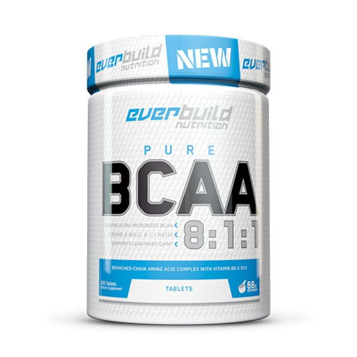 EVERBUILD BCAA 8:1:1 800mg / 200 Caps.