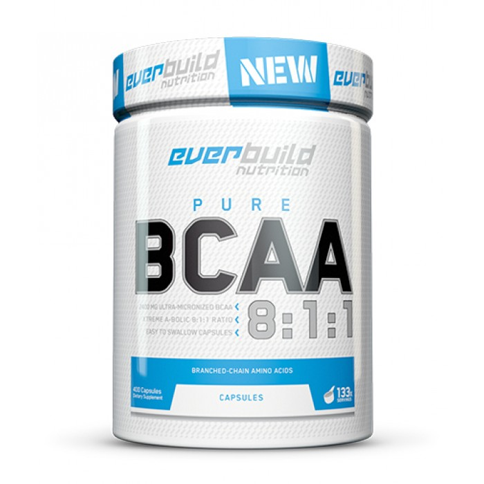EVERBUILD BCAA 8:1:1 800mg / 400 Caps.