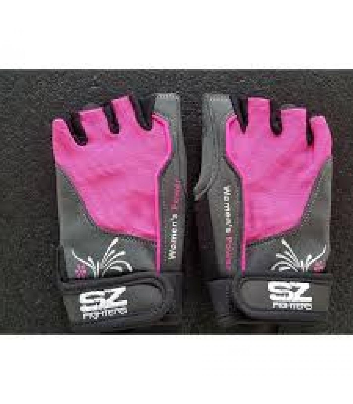 SZ Fighters - Дамски фитнес ръкавици - розови