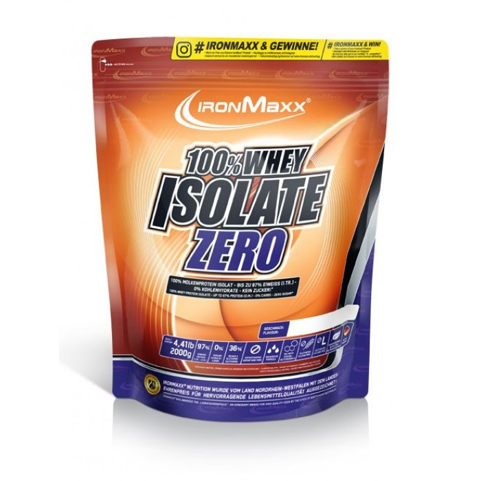 IronMaxx - 100% Whey Isolate Zero / 2000gr.