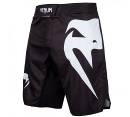 Шорти - Venum Light 3.0 Fightshorts - Black/White​ Къси гащета