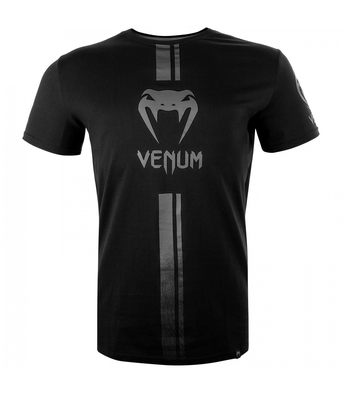 Тениска - Venum Logos T-Shirt - Black/Grey​