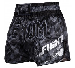 МУАЙ ТАЙ ШОРТИ - Venum Tecmo Muay Thai Shorts - Dark Grey​ Къси гащета