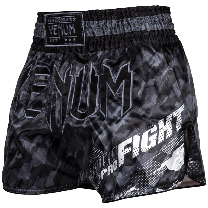 МУАЙ ТАЙ ШОРТИ - Venum Tecmo Muay Thai Shorts - Dark Grey​