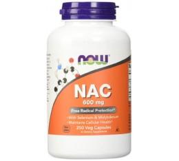 NOW - NAC 600mg. / 250 Caps. Хранителни добавки, Антиоксиданти, Н-Ацетил Цистеин