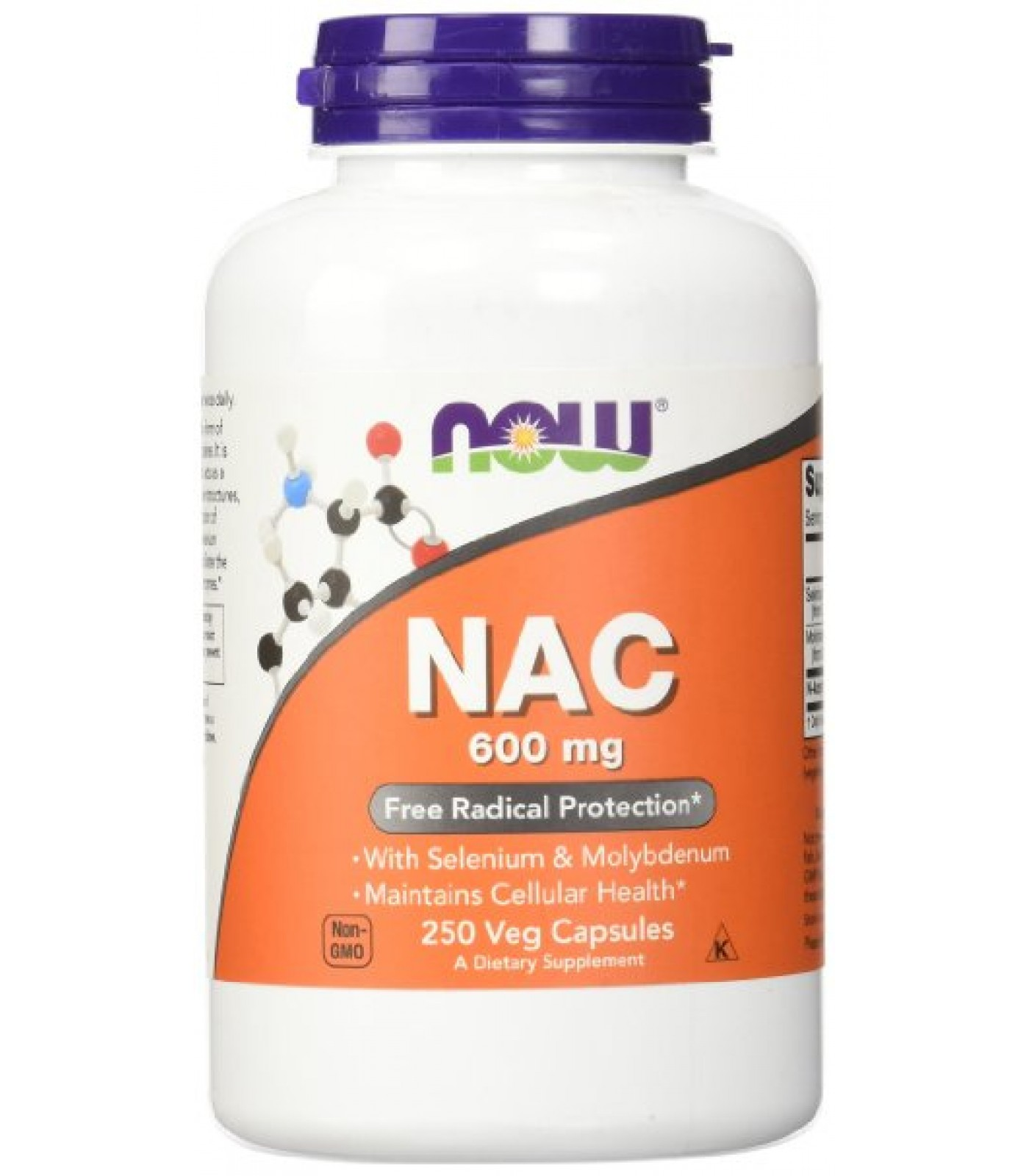 NOW - NAC 600mg. / 250 Caps.