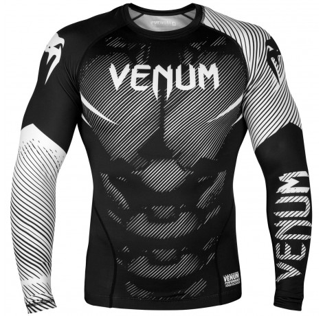 Рашгард - Venum NoGi 2.0 Rashguard - Long Sleeves - Black/White