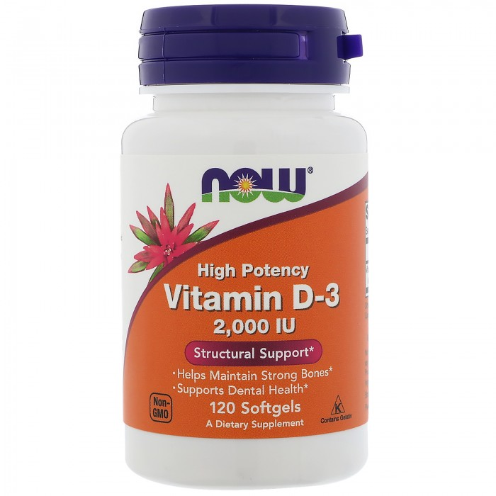 NOW - Vitamin D-3 2000 IU - 120 softgels