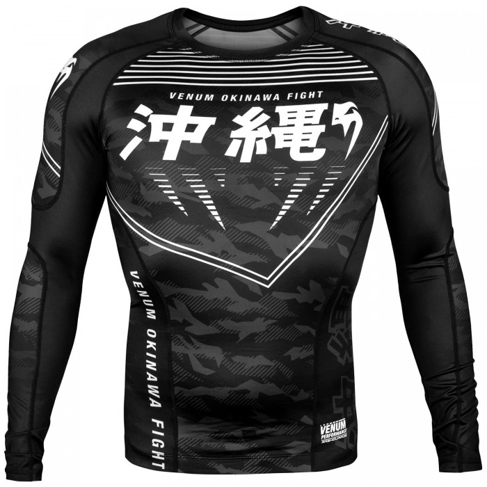 Рашгард - Venum Okinawa 2.0 Rashguard - Long Sleeves - Black/White​