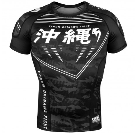 Рашгард - Venum Okinawa 2.0 Rashguard - Short Sleeves - Black/White