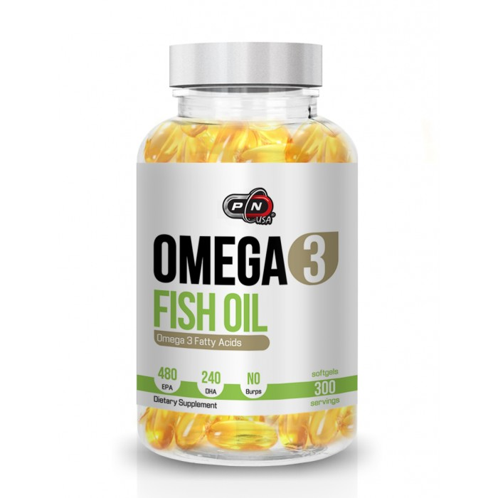 Pure Nutrition - Omega 3 Fish Oil / 300 softgels. - 480mg EPA / 240mg DHA