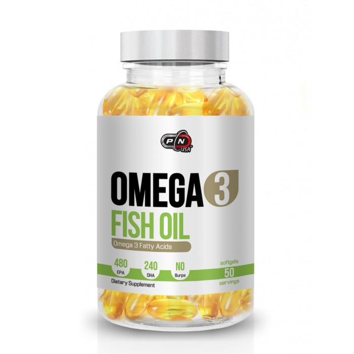 Pure Nutrition - Omega 3 Fish Oil / 50 softgels. - 480mg EPA / 240mg DHA