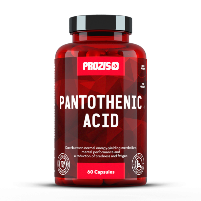 Prozis Pantothenic Acid Vitamin B5 500mg / 60caps.