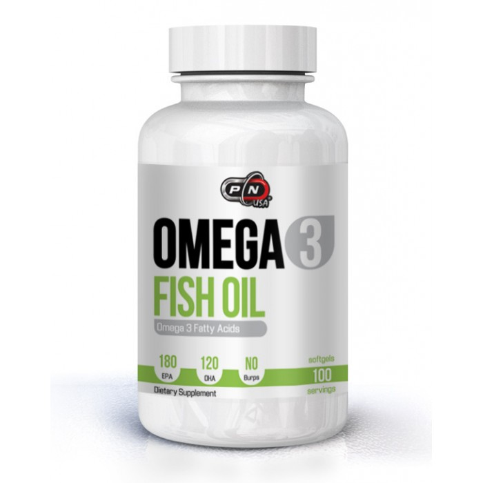 Pure Nutrition - Omega 3 Fish Oil 180 EPA/120 DHA - 100 softgels.