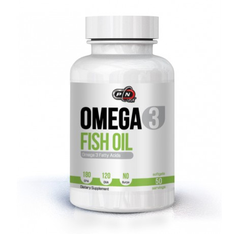 Pure Nutrition - Omega 3 Fish Oil 180 EPA/120 DHA - 50 softgels.