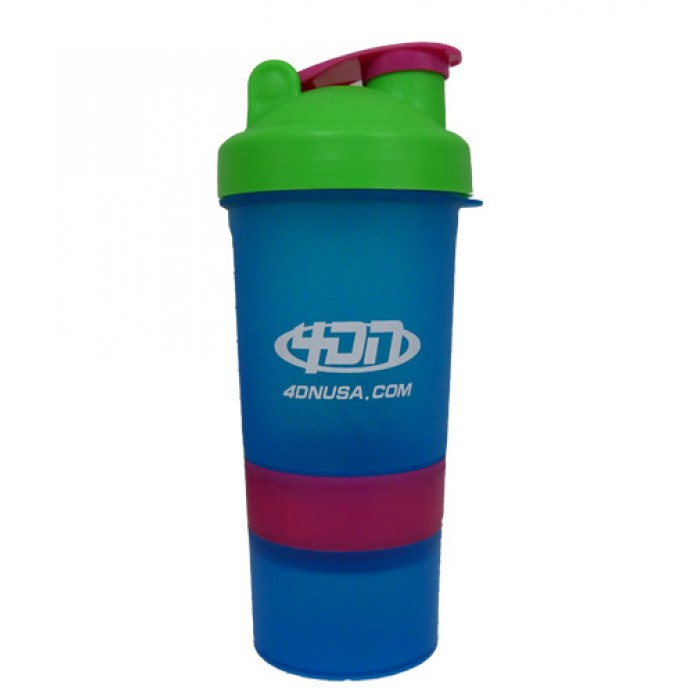 4DN Shaker Bottle Blue 400ml. - с отделения