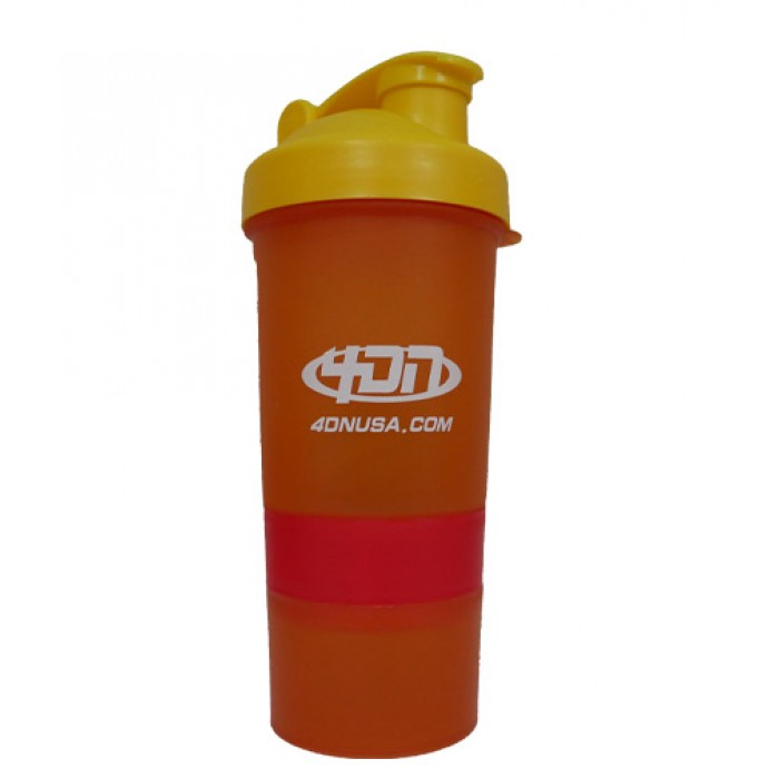 4DN Shaker Bottle Orange 400ml. - с отделения