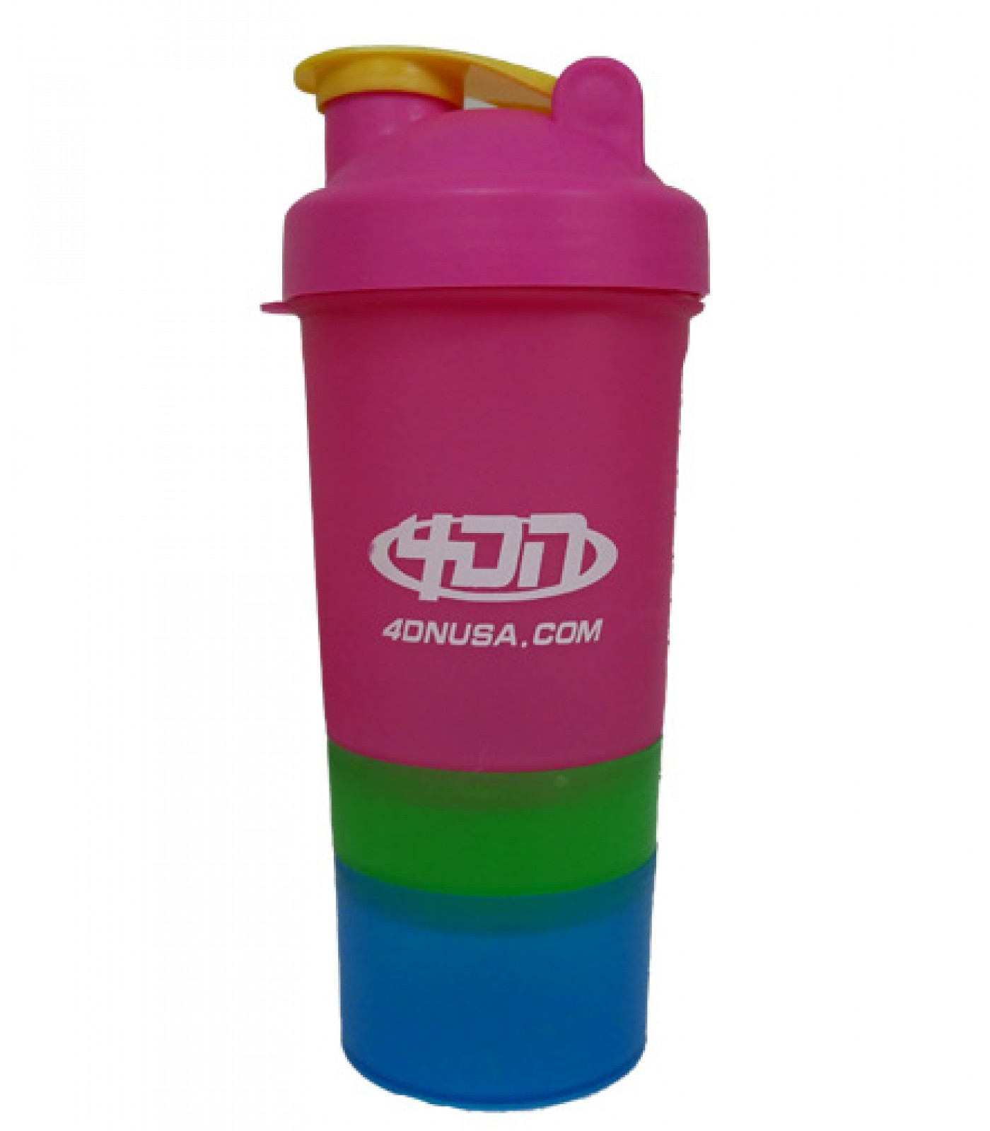 4DN Shaker Bottle Pink Green 400ml. - с отделения