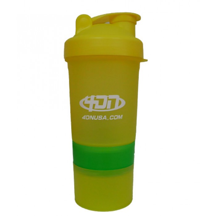 4DN Shaker Bottle Yellow 400ml. - с отделения
