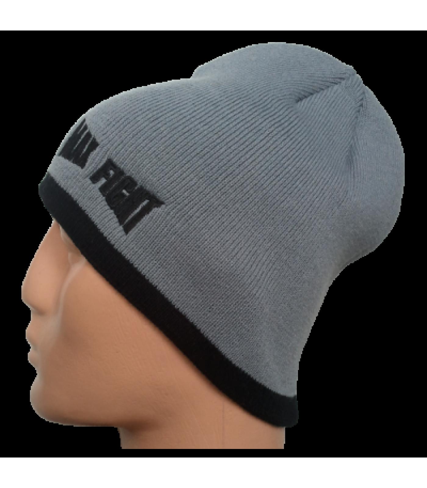 Max Fight - Мъжка плетена шапка - Сива