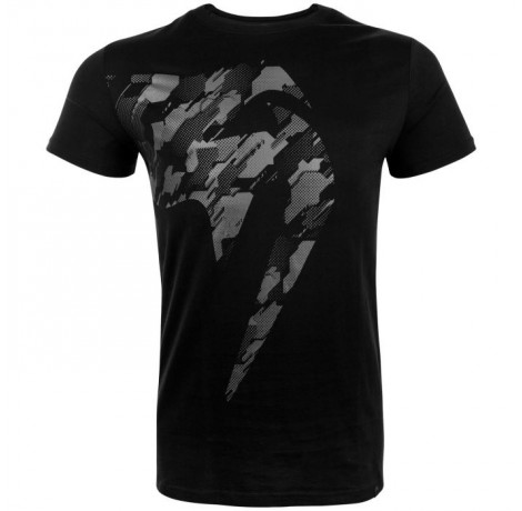 Тениска - Venum Tecmo Giant T-shirt - Black/Grey​ Тениски