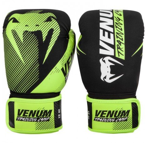 Боксови ръкавици - Venum Training Camp 2.0 Boxing Gloves - Black/Neo Yellow