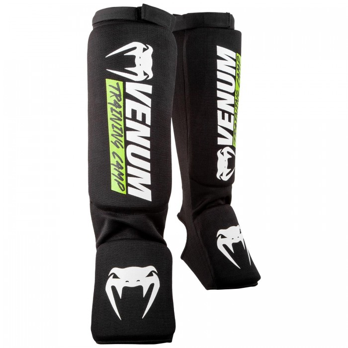 Протектори за крака - Venum Training Camp 2.0 Shin guards - Black/Neo Yellow​