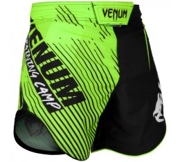 Шорти - Venum Training Camp 2.0 Fightshorts - Black/Neo Yellow​ Къси гащета