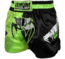 Муай Тай Шорти - Venum Training Camp Muay Thai Shorts - Black/Neo Yellow​ Къси гащета