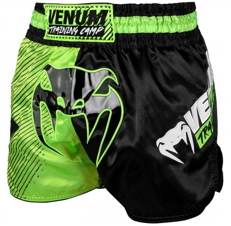 Муай Тай Шорти - Venum Training Camp Muay Thai Shorts - Black/Neo Yellow